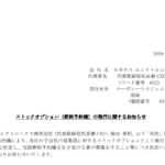 ストックオプション(新株予約権)の発行に関するお知らせ