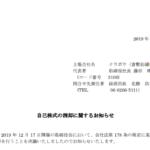 クラボウ(倉敷紡績株式会社)|自己株式の消却に関するお知らせ