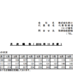 串カツ田中HLDGS|月次報告(2019年11月度)
