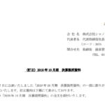 シャノン|(訂正)2019 年 10 月期 決算説明資料