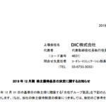 DIC|2019 年 12 月期 株主優待品目の決定に関するお知らせ