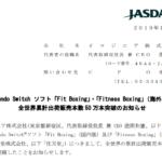 イマジニア|Nintendo Switch ソフト「Fit Boxing」・「Fitness Boxing」(海外版) 全世界累計出荷販売本数 50 万本突破のお知らせ