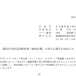 日本電気硝子|関係会社株式評価損等(個別決算)の計上に関するお知らせ