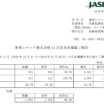 東邦レマック|東邦レマック株式会社 11 月度月次業績ご報告