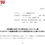 ノーリツ鋼機|当社連結子会社である株式会社JMDCの上場 及び2020年3 月期個別決算における特別利益の計上に関するお知らせ
