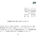 ジャパンシステム|中期経営計画の策定に関するお知らせ