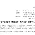 シーアールイー|完全子会社の吸収合併(簡易合併・略式合併)に関するお知らせ