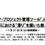 "PR TIMES|タスク・プロジェクト管理ツール「Jooto」 チームでの仕事における""滞り""を描いた新 CM2 篇を公開~1 月 27 日(月)より放映開始~"