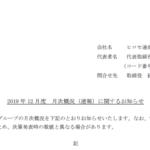 ヒロセ通商 2019 年 12 月度 月次概況(速報)に関するお知らせ