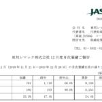 東邦レマック|東邦レマック株式会社 12 月度月次業績ご報告