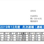 ヴィア・ホールディングス|2019年12月度 月次速報 (連結)