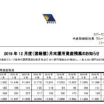スパークス・グループ|2019 年 12 月度(速報値)月末運用資産残高のお知らせ