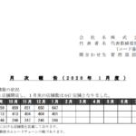 鳥貴族|月 次 報 告 ( 2 0 2 0 年 1 月 度 )