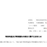 田中化学研究所|特別利益及び特別損失の発生に関するお知らせ